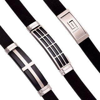 Dare by Voylla Royal Bands Classic Men's Bracelet Combo