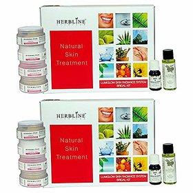 Herbline Lumiglow Skin Radiance System Bridal Kit 180gm-Pack Of-2
