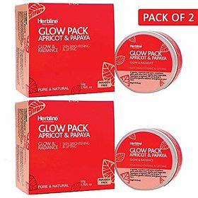 Herbline Glow Pack Apricot amp Papaya 50gm Pack of -2