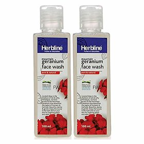 Herbline Geranium Face Wash 100ml-Pack Of-2