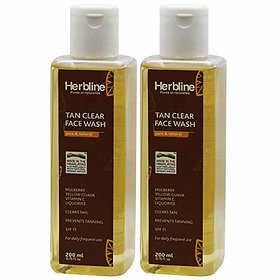 Herbline Tan Clear Face Wash 200ml-Pack Of-2