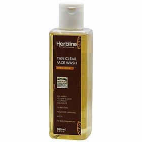 Herbline Tan Clear Face Wash 200ml