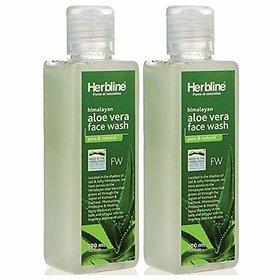 Herbline Aloevera Face Wash 100ml-Pack Of-2