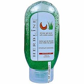 Herbline Melon Shower Gel Scrub With Face Wash 120gm