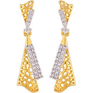 Voylla Jali Work Drop Earrings
