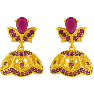 Voylla Dainty Jhumka Earrings with Gold Plating