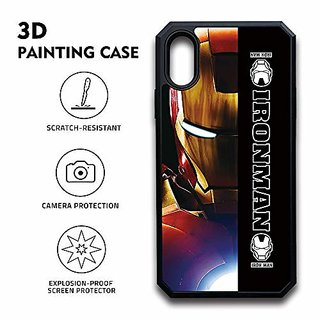 ROSETTE 3D Printing Ultra Hybrid Designed All Sides Protection with Anti Dust Plug Back Shockproof Case Detachable Cover