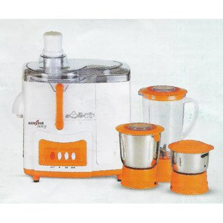 Kenstar JUICY 500-Watt KJJUI50O3P-DBB Juicer Mixer Grinder (Orange White)