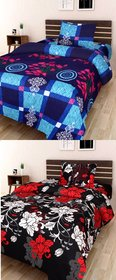 SHAKRIN 2 Single Bedsheets with 2 Pillow Covers, 60 x 90 Inch (Pack of 2)