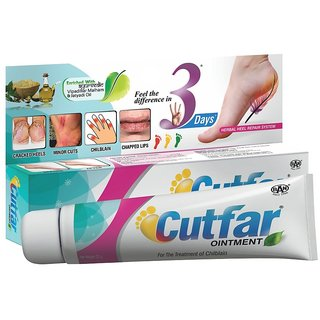 Herbal Heel Repair Cutfar Ointment 25 GM for Cracked Heel, Cuts  Wounds, Chilblain and Rough Skin