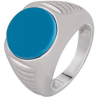 Dare by Voylla Striped Blue Stone Milestone Ring