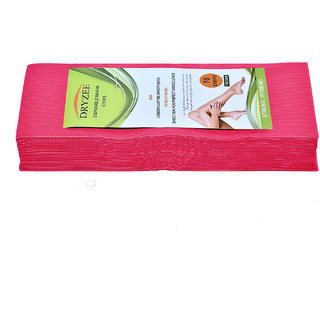 Dryzee Leg and Body Hair Remover Wax Strips, 70 Count (Pink)