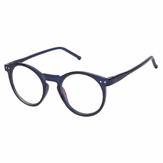 Debonair Round Blue-Transparent UV Protection Sunglasses  Frame For Men  Women