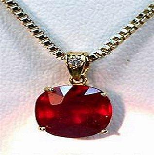 Astrological Stone  Ruby  Pendant 100 Original  Certified Manik Pendant By Jaipur Gemstone