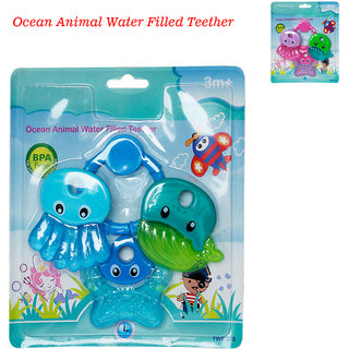 Toys Factory Baby Ocean Animal Water Filled Teether Set Of 2 Colour May Vary