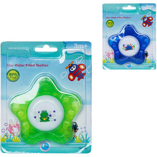 Toys Factory Baby Star Water Filled Teether Set Of 2 Colour May Vary