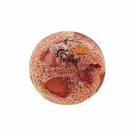 Khadi Fruit Sparkle Loofah Soap-125Gm (Pack of 4)
