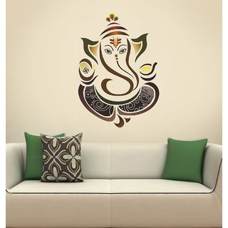 EJAart Vinyl Spiritual Ganesha Sticker Multicolor No. of pieces 1