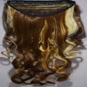 artifical hair extension synthetic hair golden brown highlighter