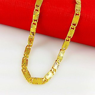 New Star Fisher Design Fancy Handmade Latest Men's Chain 24k Gold Plated With Surprise Gift  6 Months Warranty 22 inch Size