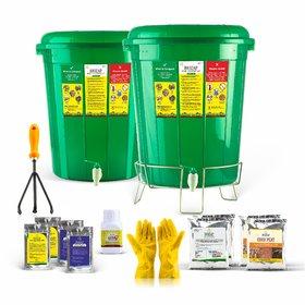 Biozap Home Composter - Compost Bin for Converting Kitchen/Organic Waste into Soil Fertilizer.