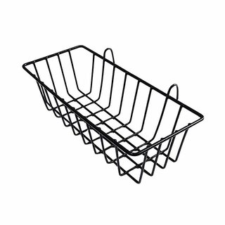House of Quirk Grid Hanging Iron Basket Wall Mounted Pot Shelf for Display Rack