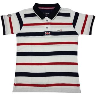 93624071e3f Buy Yorker Half Sleeve Striped Polo Neck T Shirt for Boys Online - Get 50%  Off