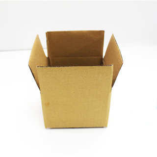 f73a25493cb Sriyug Print Production 5x5x5 inch Brown Corrugated Box for Packaging