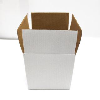 7ad75287e47 Buy Sriyug Print Production 4x4x3 inch White Corrugated Box for Packaging