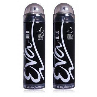 Eva Wild Deodorant Spray for Women Combo Pack of 2 125ML each 250ML