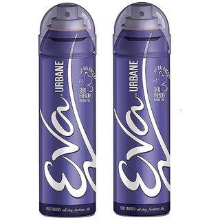 Eva Urbane Deodorant Spray for Women Combo Pack of 2 125ML each 250ML
