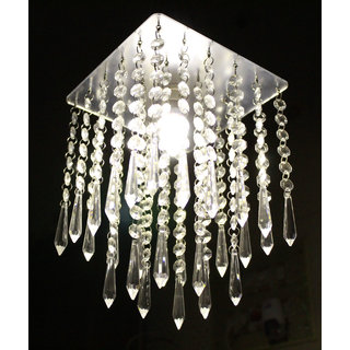 Discount4product Crystal Hanging Pendant, Hanging Light, Hanging Lamp Fixtures Height25 cm, Width17 cm -A110
