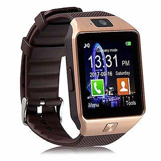 Liddu DZ09 Golden Touch Screen Bluetooth Mobile Phone Wrist Watch With Sim/Voice Calling