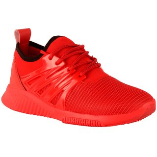 Woakers Men's Red Casual Shoes