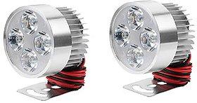 BIKE/MOTORBIKE/CAR SPOT LED FOG HEADLIGHT 12-80 V 960LM 2 PC SMALL COLOUR SILVER