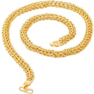 Shine Art Designer Gold Plated Snake chain for men (20 inch)