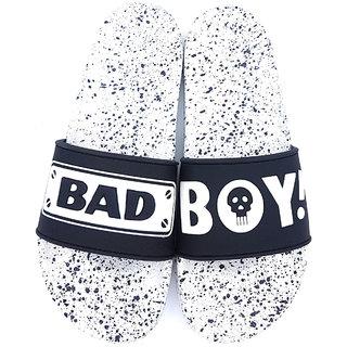 Pampys Angel Men's Black BadBoy-Style Casual Slipper