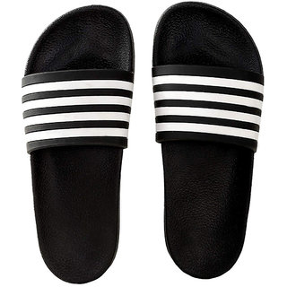 Pampys Angel Black Flip Flops For Men