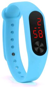 FARP Digital led watch band type blue colour fancy mens and boys watch