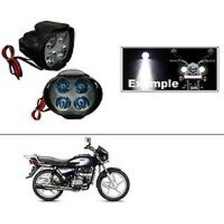 4 Led Small Circle Motorcycle Light Bike Fog Lamp Light - 2 Pc