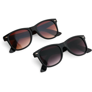 Combo of Black and Brown Wayfarer Sunglasses