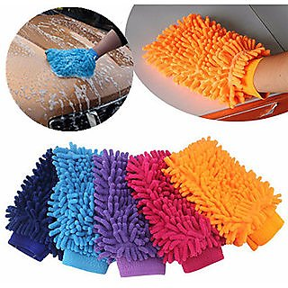 Autonext Car Cleaning Microfiber Hand Glove 1Pcs
