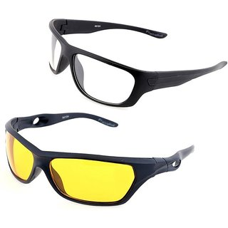 113a17a09b Buy Day   Night Night Vision NV NIGHT VIEW Glasses HD Glasses Yellow Color  Glasse By Ral Night Club PACK OF 2 (AS SEEN ON TV) Online - Get 75% Off