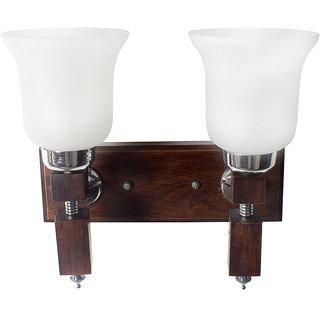 Fos Lighting Martin Crown Wood DoubleWall Light