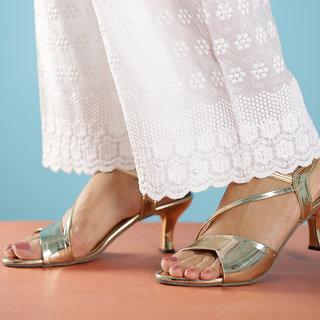 Altek Stylish Light Gold Patent Heel For Women (foot-A13209-lightgold-p210)