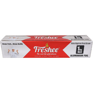 Freshee 1kg 18microns thick Aluminium Kitchen Foil Roll Pack of 1 for Multipurpose use with High Quality Standards