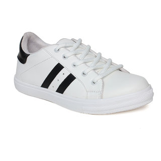 Vendoz Women White Sneakers