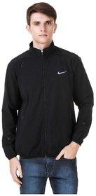 Nike Black Polyester Terry Jacket For Men