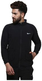 Nike Men Black Polyester Jacket