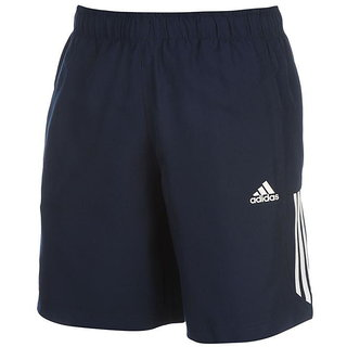 Adidas Navy Lycra Running Shorts For Men